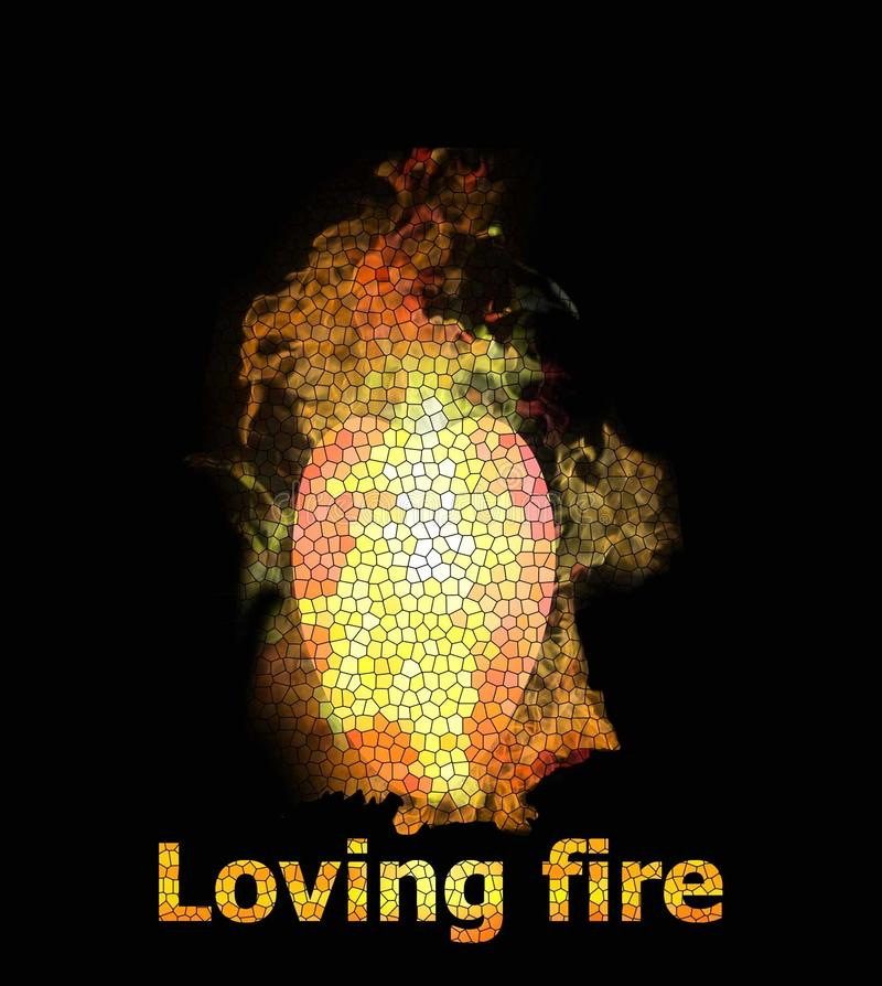 Loving fire stock illustration