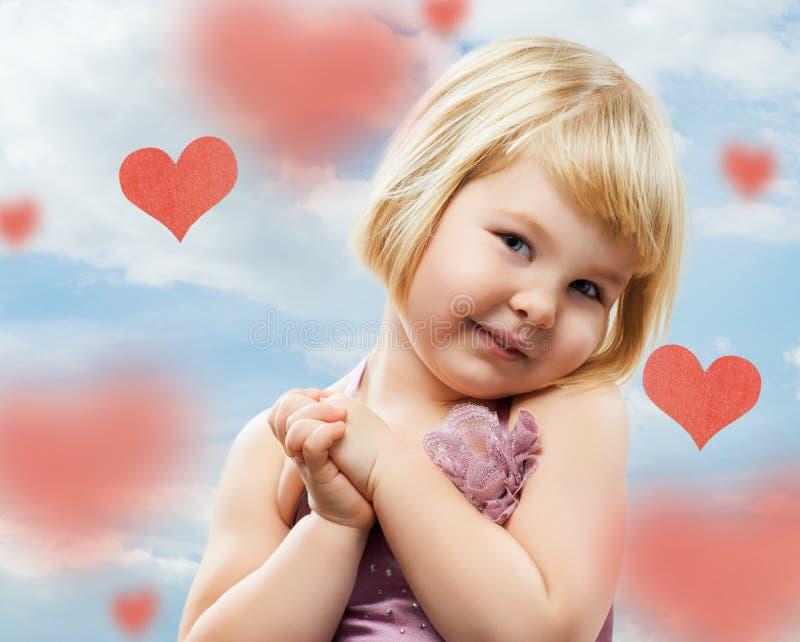 Loving girl stock photo