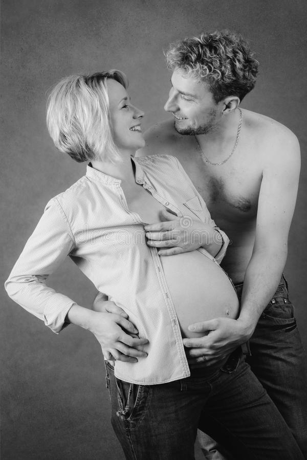 Download Loving Happy Couple, Pregnant Woman With Her Husband Stock Photo - Image: 33567766