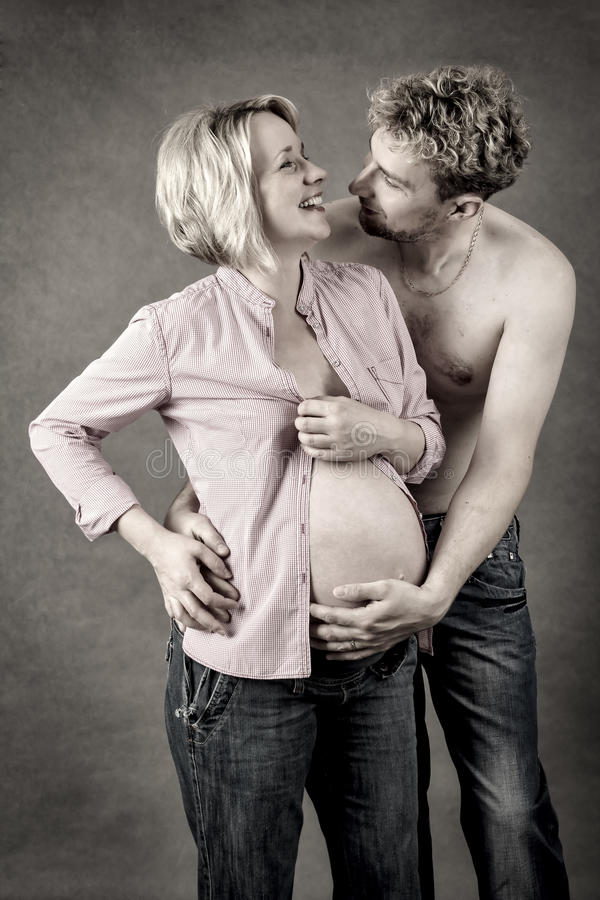 Download Loving Happy Couple, Pregnant Woman With Her Husband Stock Image - Image: 33567771