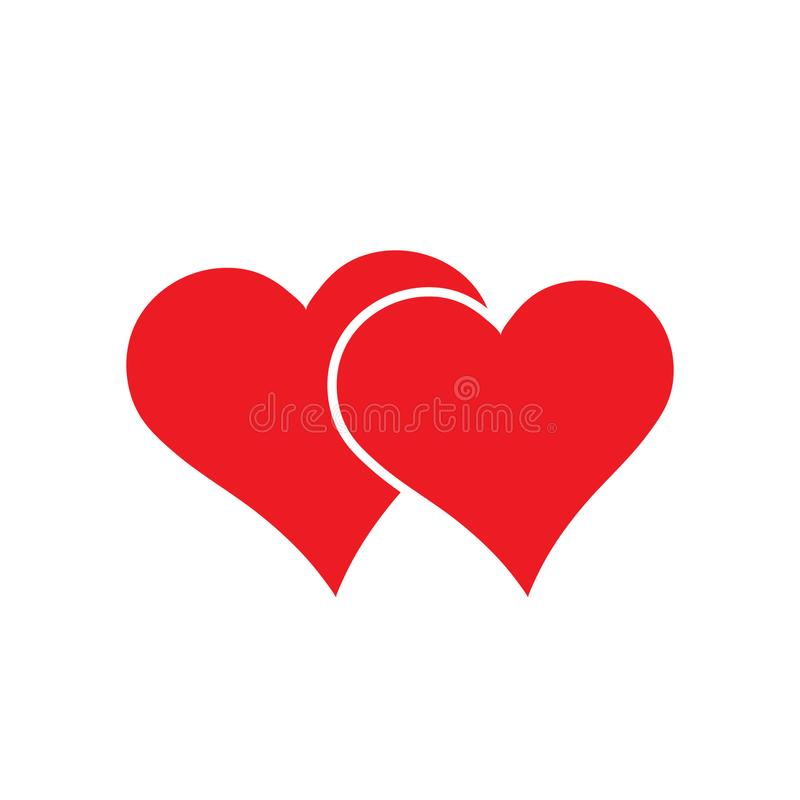 Loving heart icon vector, Love symbol. Valentine`s Day sign, emblem isolated on white background,. Loving heart icon vector, Love symbol. Valentine`s Day sign stock illustration