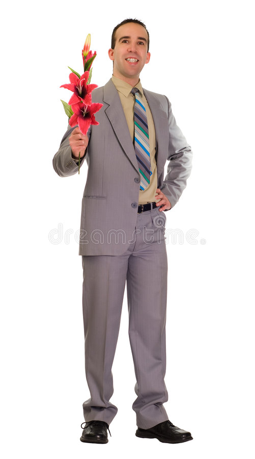 Download Loving Man stock photo. Image of loving, gift, flower - 7397354