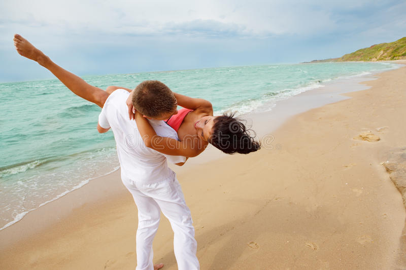 Loving man and woman stock images