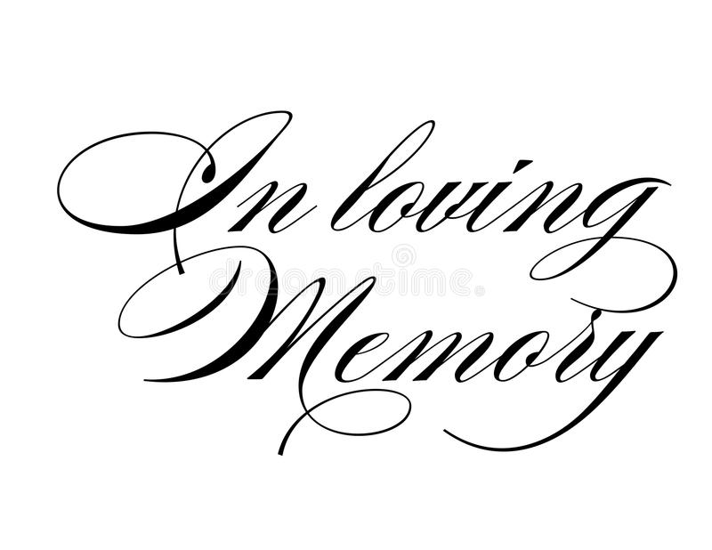 In loving memory royalty free illustration