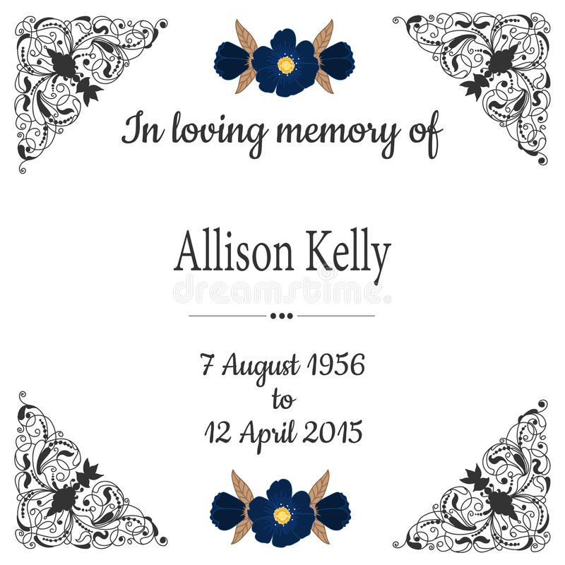 Super In Loving Memory. Funeral Frame. Stock Illustration - Illustration  OT14