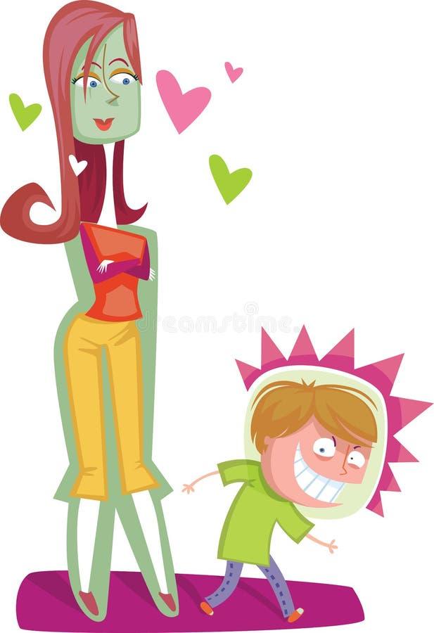 Loving mom royalty free illustration