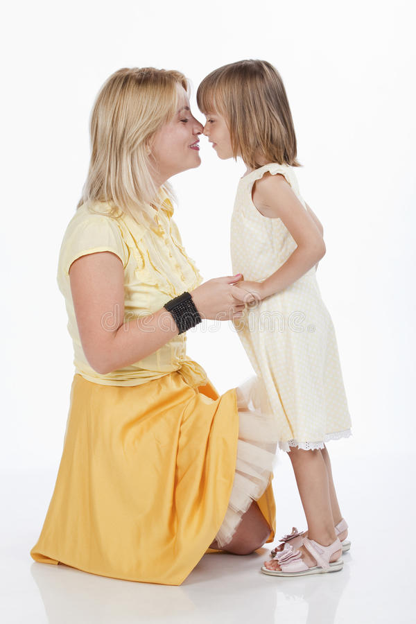 Download Loving Mother And Daughter Touching Their Nose Stock Photo - Image: 16248810