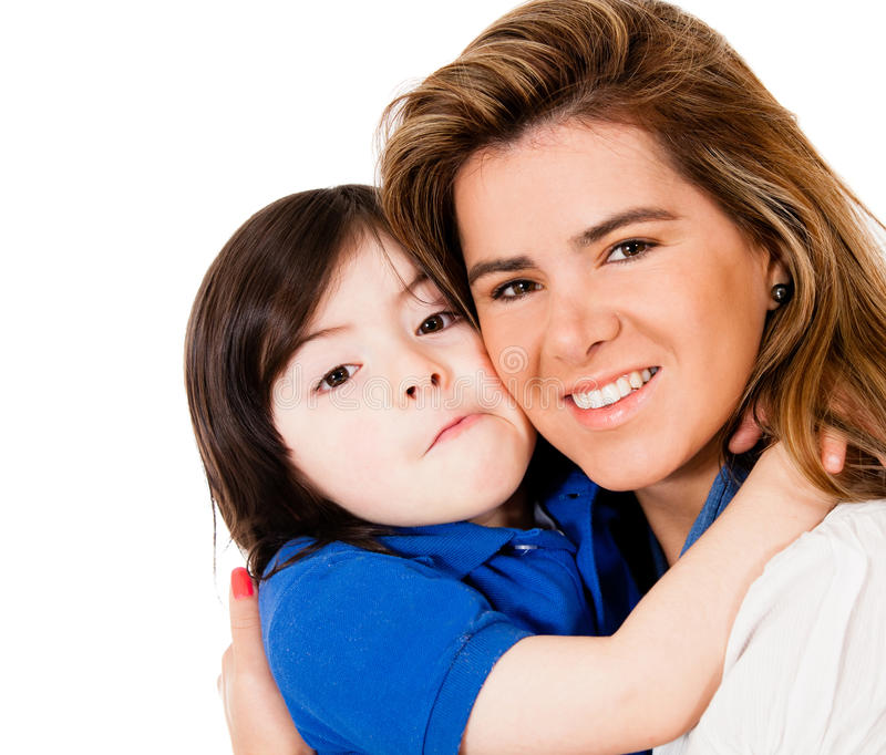 Download Loving mother and son stock image. Image of joyful, people - 25241545