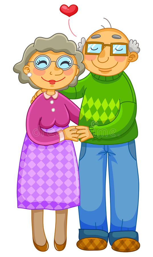 Download Loving old couple stock vector. Image of couple, image - 32101217