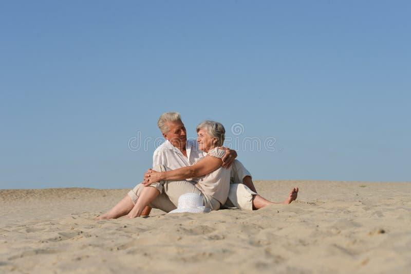 Loving older couple stock images