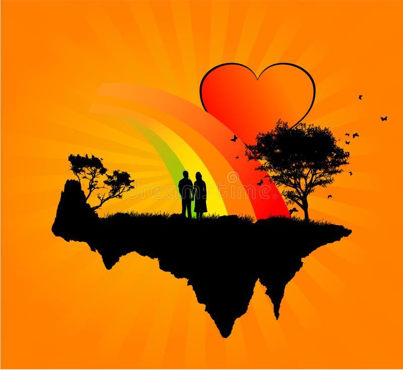 Loving people stock illustration