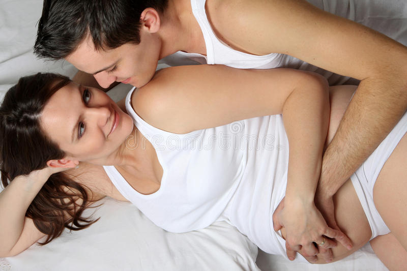Loving Pregnant Couple Royalty Free Stock Image