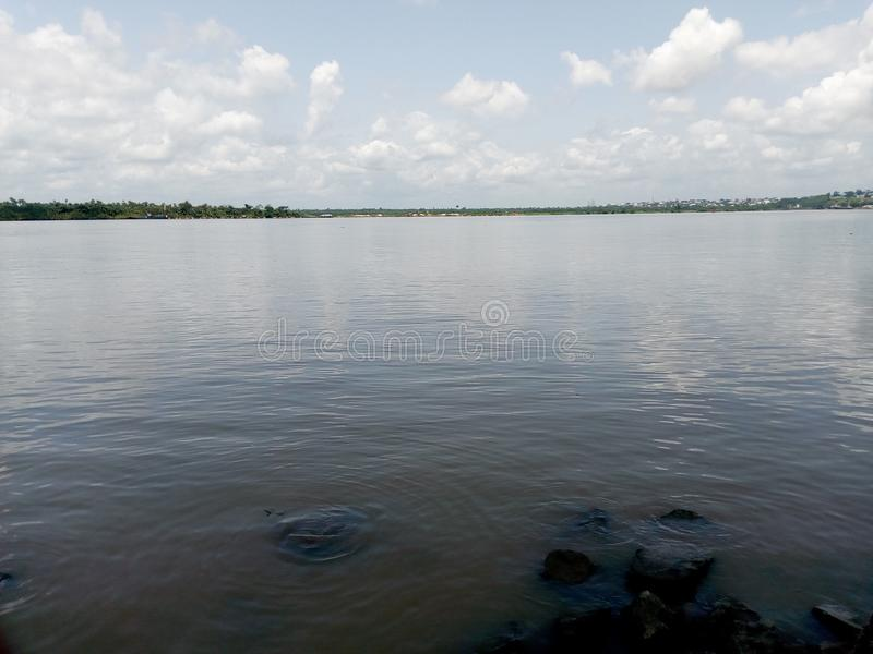 River site. The loving river view of marina resort in Calabar state, Nigeria stock photography
