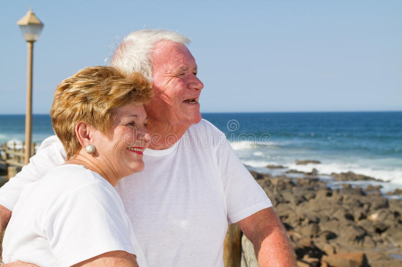 Loving senior citizens royalty free stock image