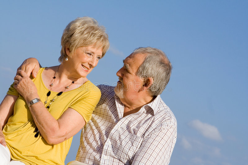 Download Loving senior couple stock photo. Image of couple, outdoors - 3401412