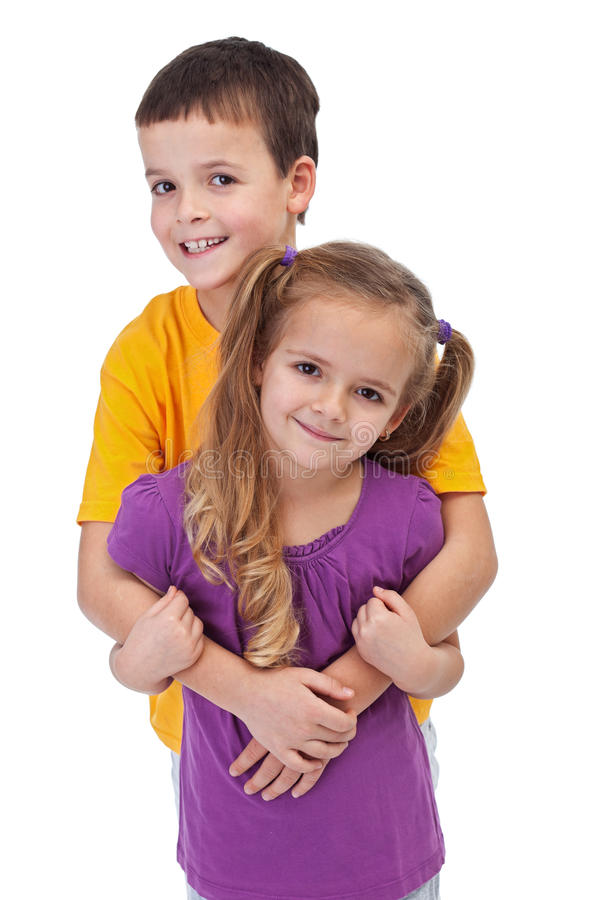 Download Loving siblings - isolated stock image. Image of happy - 23392123