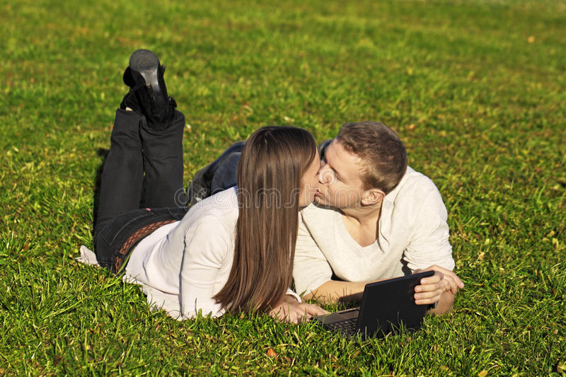 Download Loving students stock photo. Image of student, grass - 16753094
