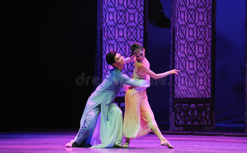 Loving support-The second act of dance drama-Shawan events of the past. Guangdong Shawan Town is the hometown of ballet music, the past focuses on the historical royalty free stock images