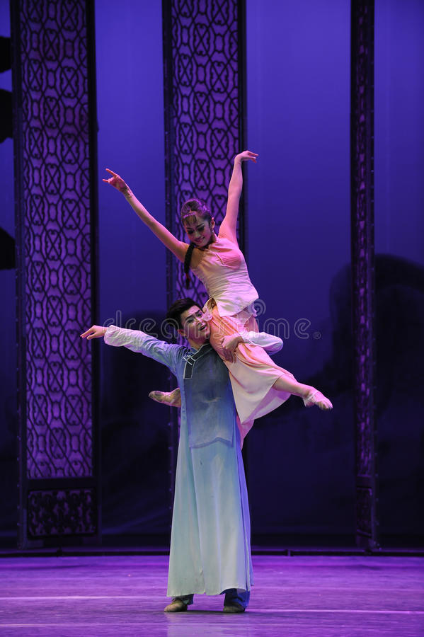 Loving support-The second act of dance drama-Shawan events of the past. Guangdong Shawan Town is the hometown of ballet music, the past focuses on the historical royalty free stock photos