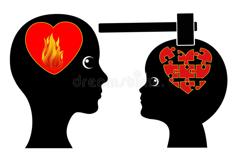 Loving too much. Excessive paternal love can become harmful for children royalty free illustration