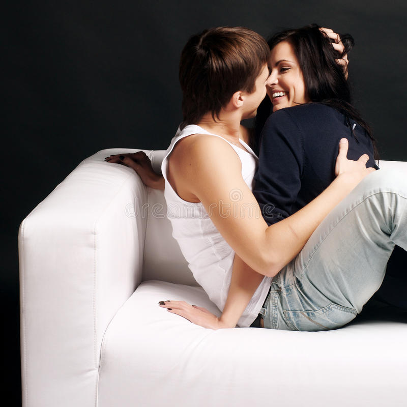 Loving Young Couple Royalty Free Stock Images