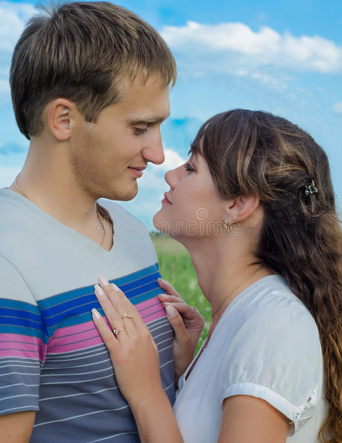 Download Loving Young Couple Showing Their  Tenderness Stock Photo - Image: 36473086