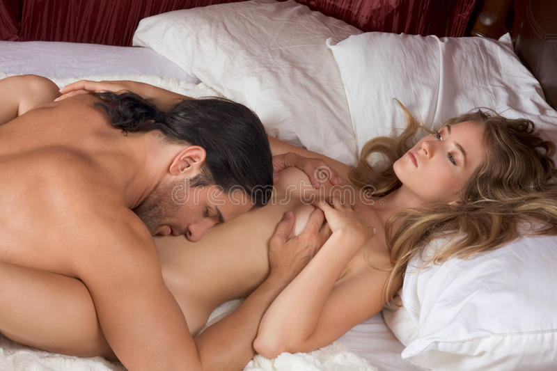 Phrase, Naked blondes couple in bed