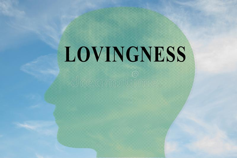 LOVINGNESS - koncepcja emocjonalna obraz royalty free