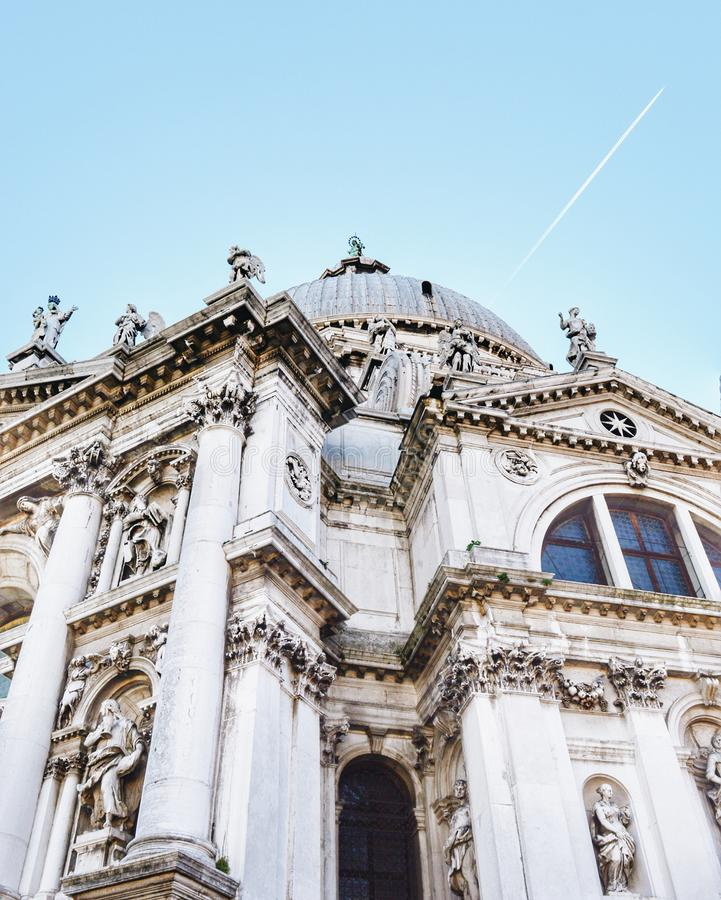 Lovlin` architecture. This was beautiful day in Venezia in December. she is goddess. I`m still spechless and still can not believe what art can do to man and royalty free stock photo