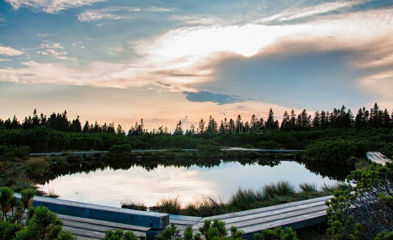 Lovrenska jeziora - Slovenia zdjęcie royalty free