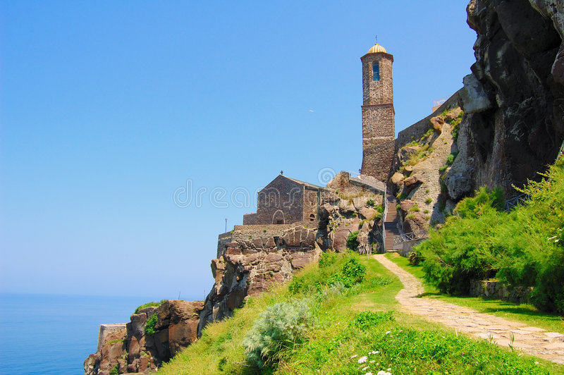 Download Low Angle Of Cathedral Of Castelsardo Stock Image - Image: 6085357