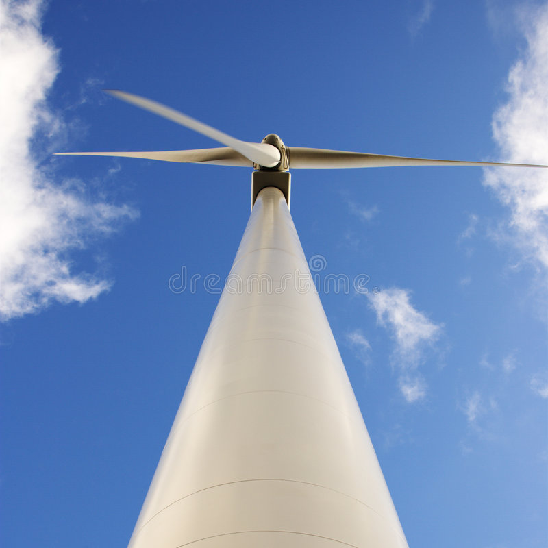 Free Low Angle Of Wind Turbine. Royalty Free Stock Images - 4414729