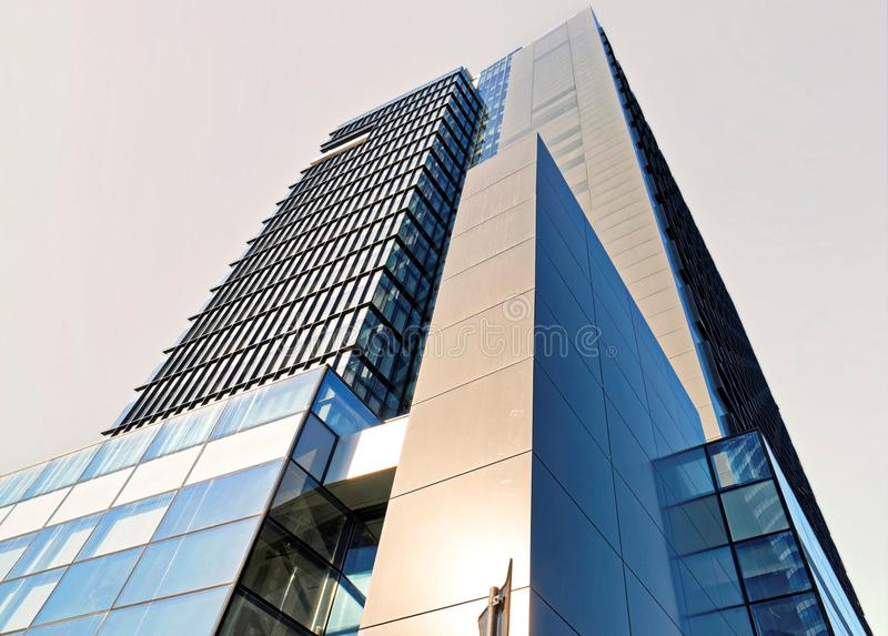 Low Angle Photo of Curtain Wall Building royalty free stock images