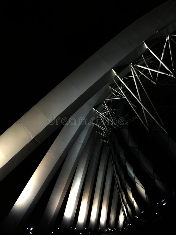 Low Angle Photo Of Designer's Structure During Nighttime Free Public Domain Cc0 Image