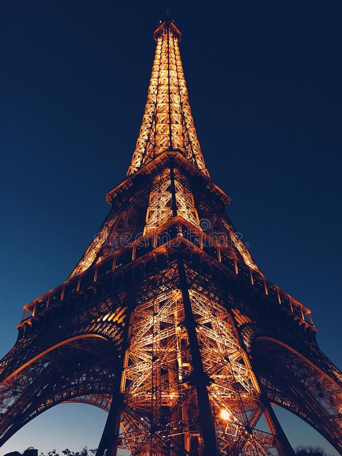 Low Angle Photo of Eiffel Tower royalty free stock photos