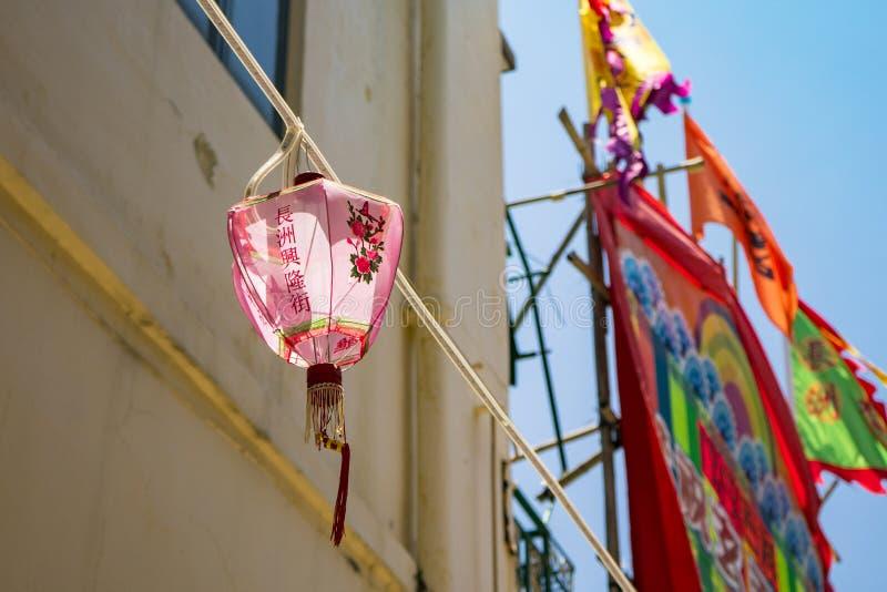 Low Angle Photo of Pink Lantern Decor stock photography