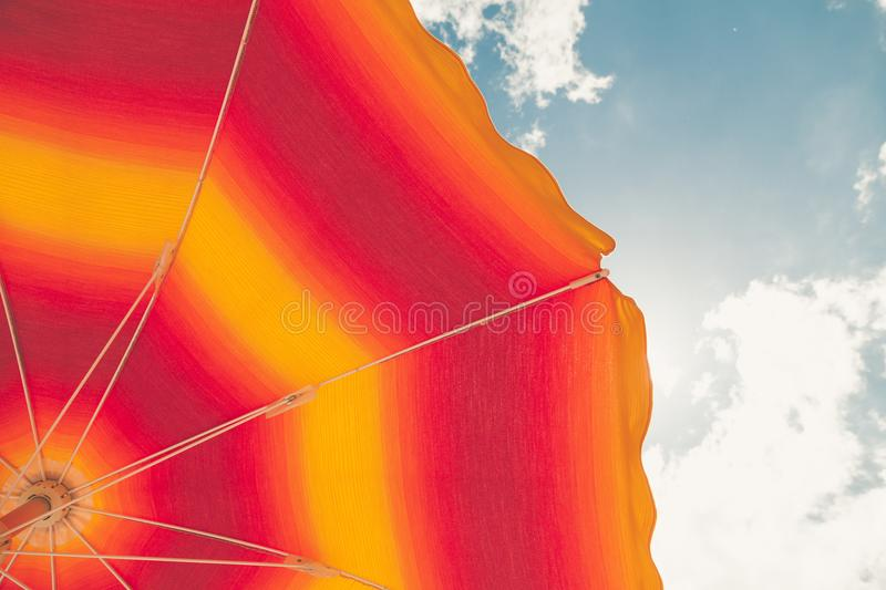 Low Angle Photo Of Red And Orange Umbrella Free Public Domain Cc0 Image