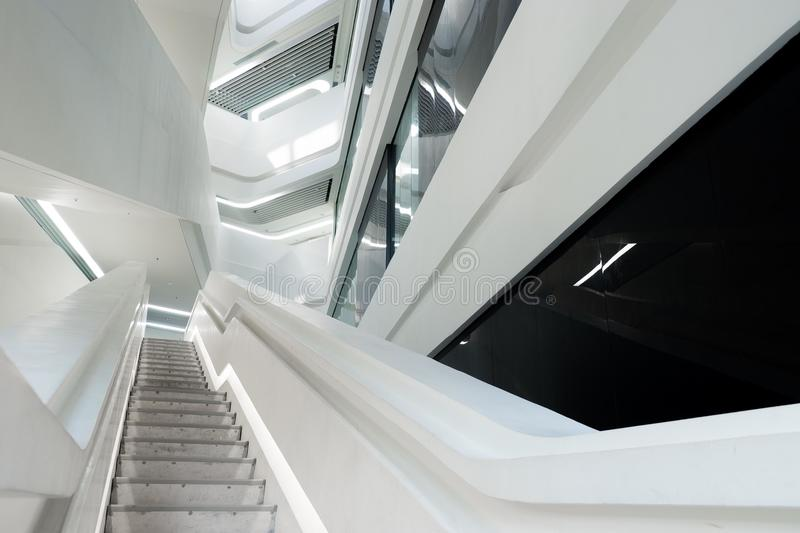 Low Angle Photo of Staircase stock image