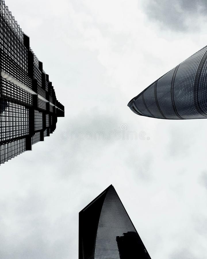 Low Angle Photo Of Three High-rise Buildings Free Public Domain Cc0 Image