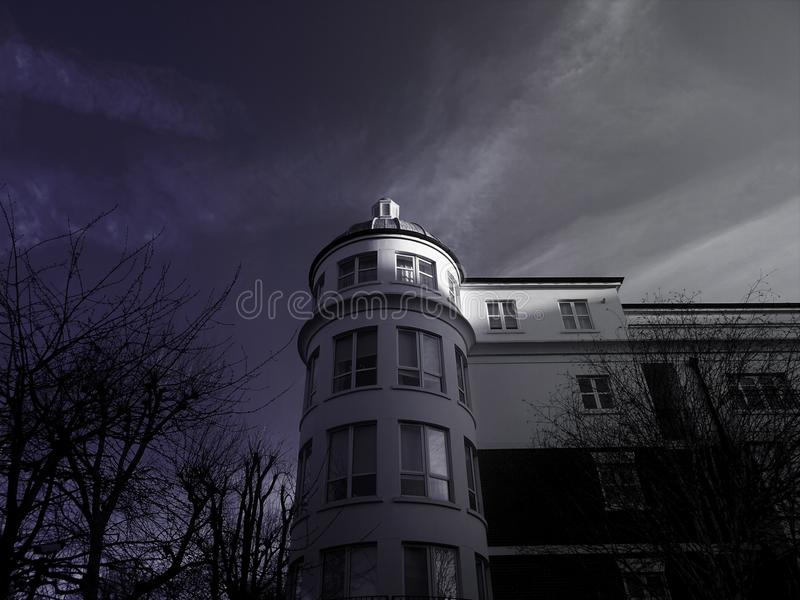 Low Angle Photo of White Painted House royalty free stock photo
