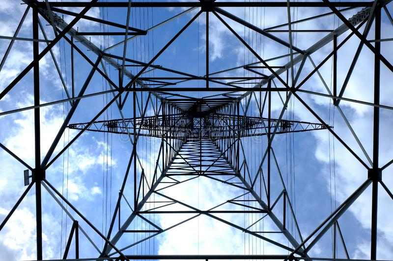 Low Angle Photograph of Black Metal Tower Satellite during Daytime royalty free stock photo