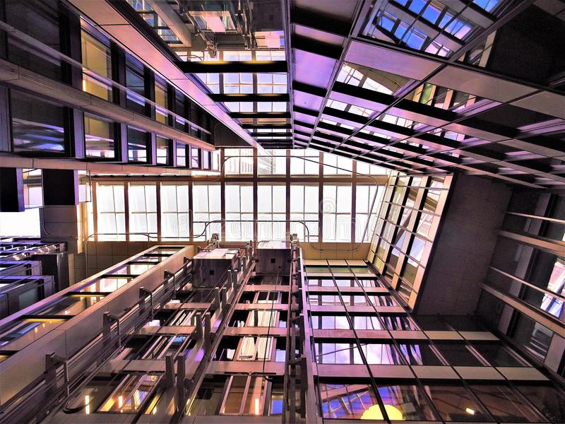 Low Angle Photograph of High-rise Building Interior stock photography