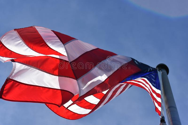 Low Angle Photography of American Flag stock image