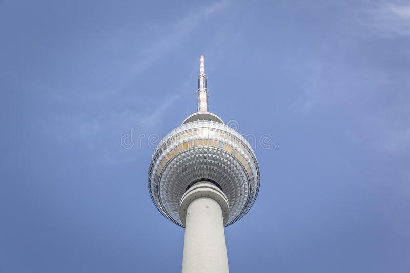 Low Angle Photography of Berlin TV Tower during Daytime royalty free stock photography