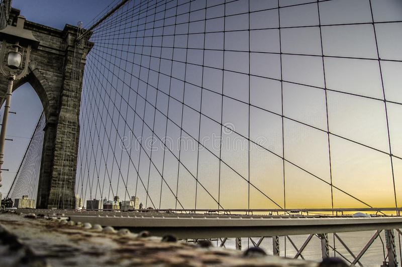 Low Angle Photography of Brooklyn Bridge royalty free stock images