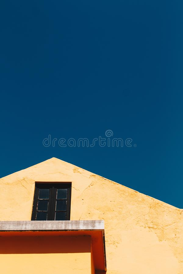 Low Angle Photography of Brown House royalty free stock photography