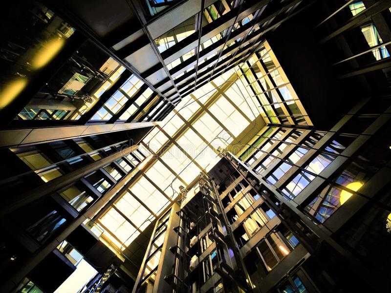 Low Angle Photography of Building Interior stock photos