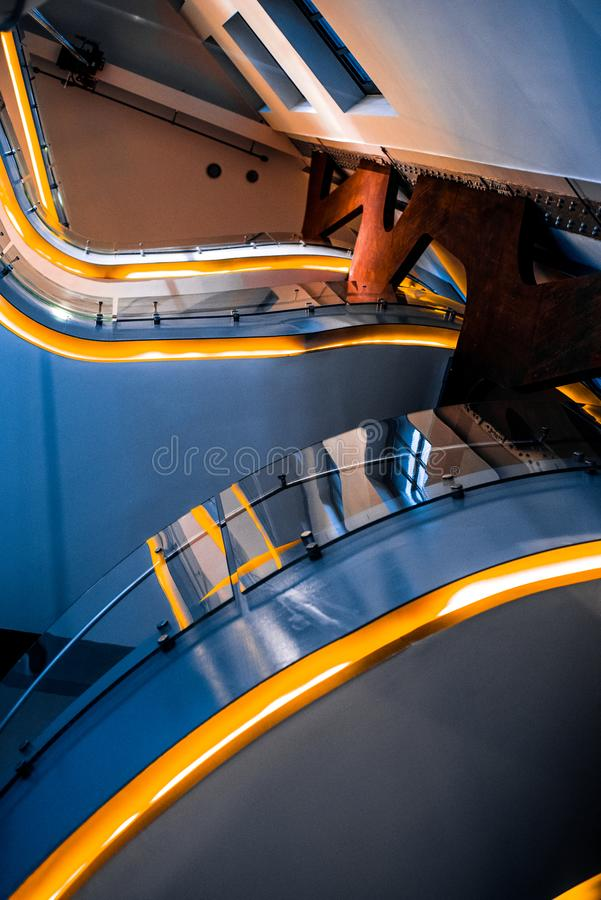 Low-angle Photography of Building Interior stock images