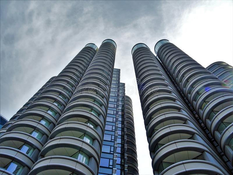 Low Angle Photography Grey Concrete High-rise Building royalty free stock image