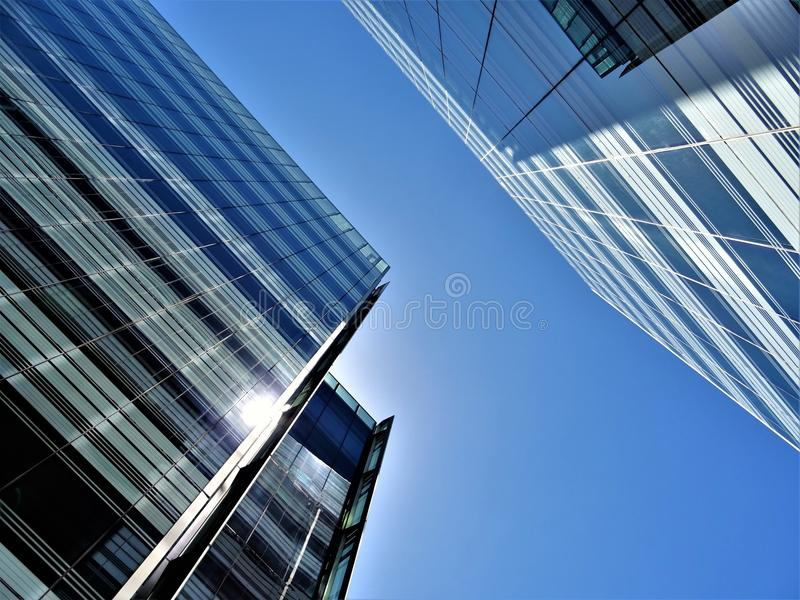 Low Angle Photography of High Rise Buildings stock photo